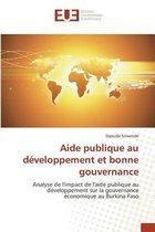 Aide Publique Au D�veloppement Et Bonne Gouvernance