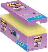 Afbeelding van Value Pack: Post-it® Super Sticky Notes, Canary Yellow™, 76mm x 76 mm, 14 blokken + 2 GRATIS