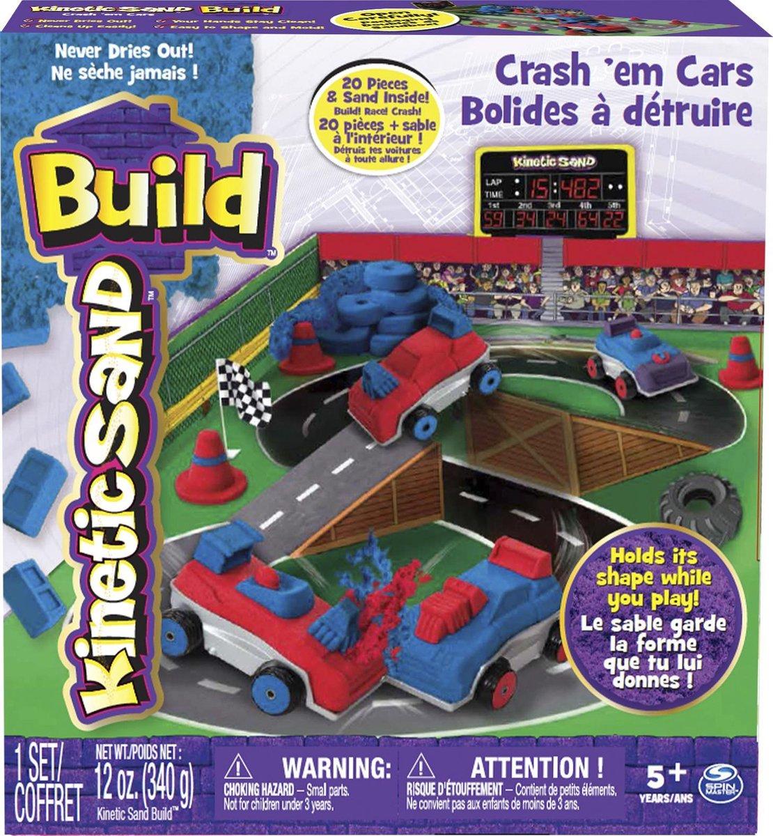Kinetic Sand Build Crash'em Cars - Speelzand