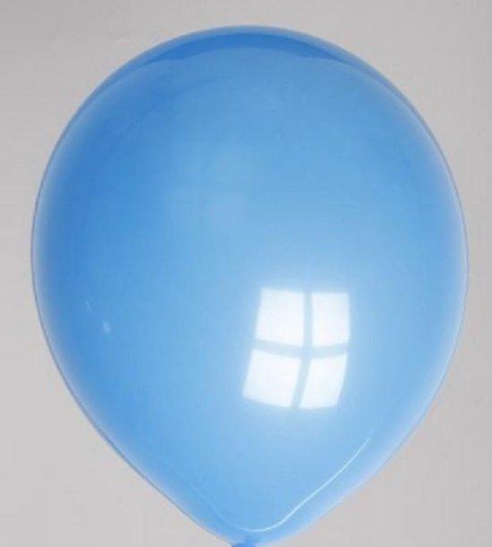 Globos ballonnen rond nr10 blauw a 100st