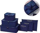 Packing Cubes Set - Koffer Organiser Reistas Pack Cube - Travel Bag Bagage Reis Organizer Opbergtas - 6-Delig