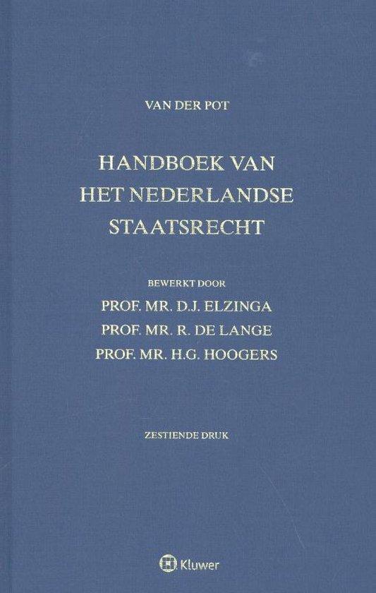 Boek cover Handboek van het Nederlandse staatsrecht, Van der Pot van C.W. van der Pot (Hardcover)