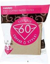 Hario Koffiefilters V60 01 - Bruin - 100 stuks