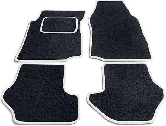 PK Automotive Complete Premium Velours Automatten Zwart Met Witte Rand Ford B-Max 2012-