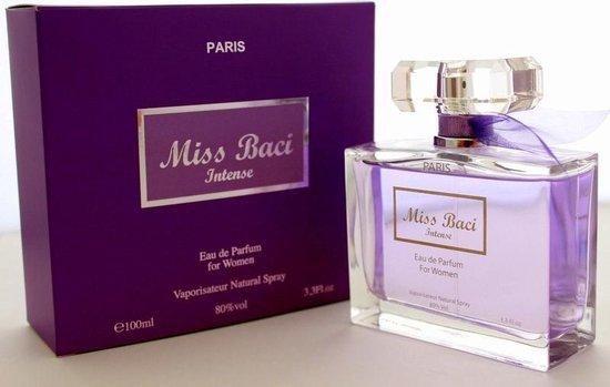 Miss Baci Intense duurzame Dames Parfum ( Een fruitige zoete geur).