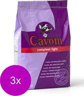 Cavom Compleet Light Rund&Schaap - Hondenvoer - 3 x 5 kg