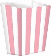 Popcorn bakjes lichtroze10 stuks - Popcornbakjes/chipsbakjes/snackbakjes kinderverjaardag/kinderfeestje.