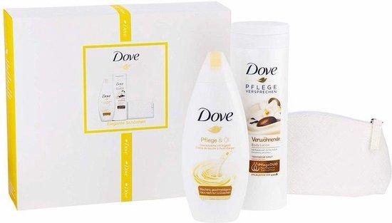 Dove GP Shower 250ml + Lotion 400ml + make-up tasje