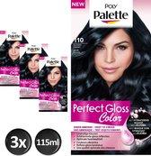 Poly Palette Perfect Gloss 110 Glossy Zwart Haarverf - 3 stuks - Voordeelverpakking