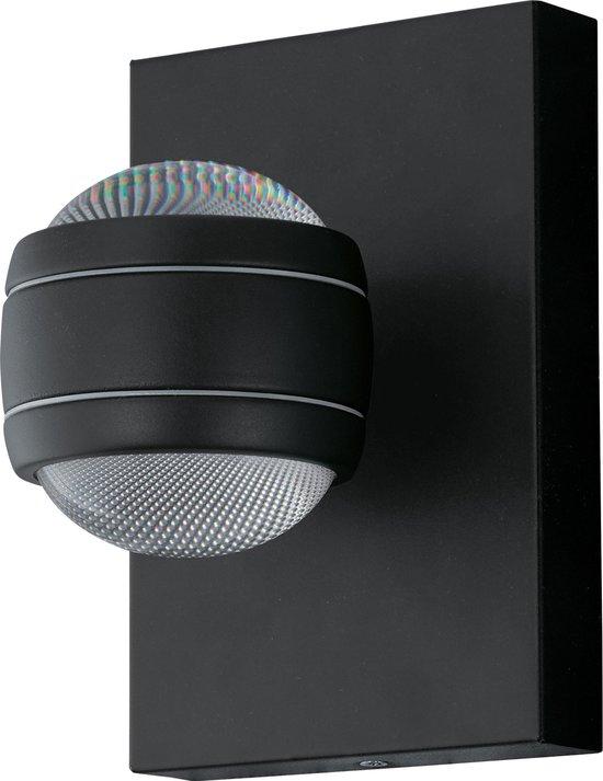 EGLO Sesimba - Buitenverlichting - LED - Wandlamp - 2 Lichts - Zwart