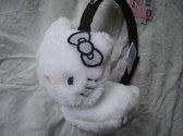 Oorwarmers van Hello Kitty, wit-zwart