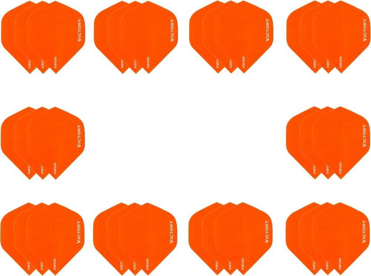 10 sets (30 stuks) Super Sterke Oranje Poly XS100 - flights - dartflights