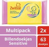 Zwitsal Baby - 2 x 63 stuks - Billendoekjes Sensitive