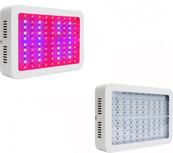 LED kweeklamp 1000W. Geschikt voor stekken, groei & bloei. Plug & play kweek lamp inclusief toebehoren.