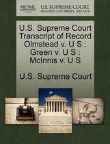 U.S. Supreme Court Transcript of Record Olmstead V. U S