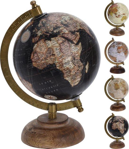 Bol Com Wereldbol Globe 12 5 Diameter Decoratie Hout