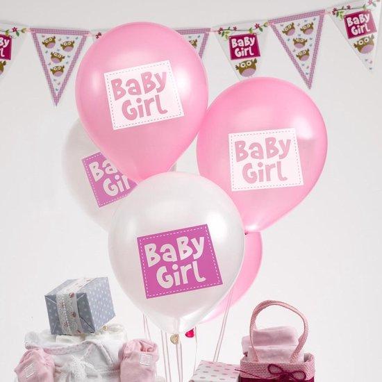 Ballonnen - Baby Girl - 8 stuks