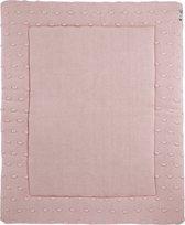 Meyco Knots boxkleed - 77x97 cm - roze