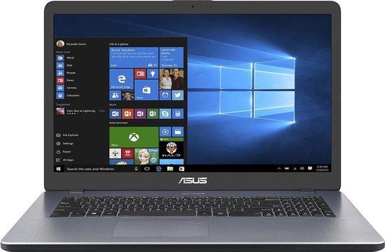 ASUS F705UB-GC071T Notebook Grijs 43,9 cm (17.3'') 1920 x 1080 Pixels Intel® 8de generatie Core™ i5 8 GB DDR4-SDRAM 256 GB SSD NVIDIA® GeForce® MX110 Wi-Fi 5 (802.11ac) Windows 10