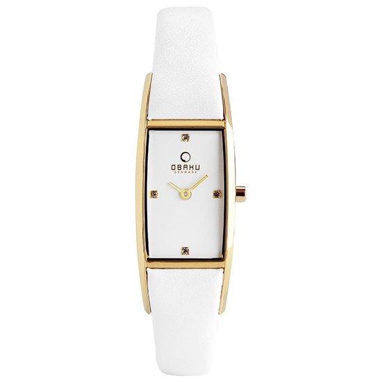 Obaku Denmark V150LX GIRW – Horloge – Wit – 18 mm