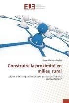 Construire La Proximit� En Milieu Rural