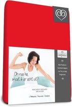 Bed-Fashion Mako Jersey Topdek Split hoeslakens 160 X 220 cm rood