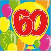 60 Jaar Servetten Balloons - 20 servetten