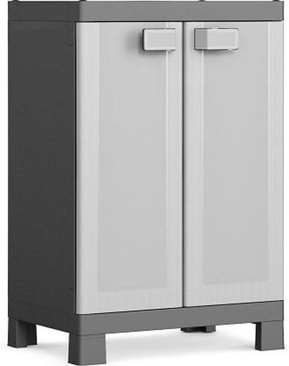 Kis Logico Opbergkast laag - 65x97x45 cm - Grijs/Zwart