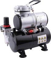 Fengda AS-186 Airbrush compressor met tank