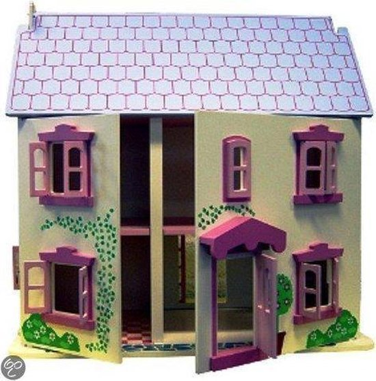 Houten poppenhuis roze Charl's Toys