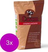 Cavom Compleet Pup/Junior - Rund & Vlees - Hondenvoer - 3 x 20 kg