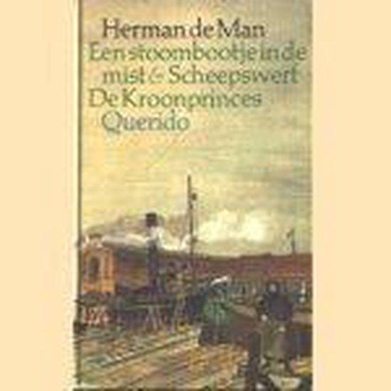 Stoombootje in de mist scheepswerf enz - Herman de Man  