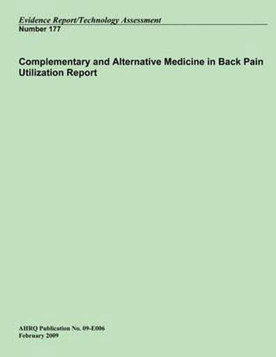 Complementary and Alternative Medicine in Back Pain Utilization Report