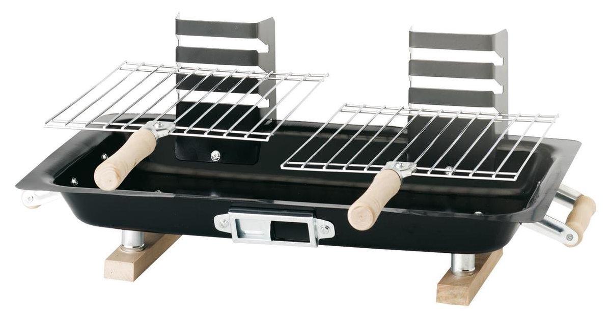 Hibachi Houtskoolbarbecue - Compact - Zwart