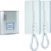 Smartwares IB62 - Audio intercom set voor 2 appartementen - 3 draads - 2-weg audio communicatie