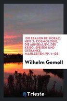 Die Realien Bei Horaz. Heft 2