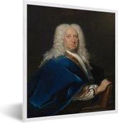 Foto in lijst - Portret van een man - Schilderij van Cornelis Troost fotolijst wit 40x50 cm - Poster in lijst (Wanddecoratie woonkamer / slaapkamer)