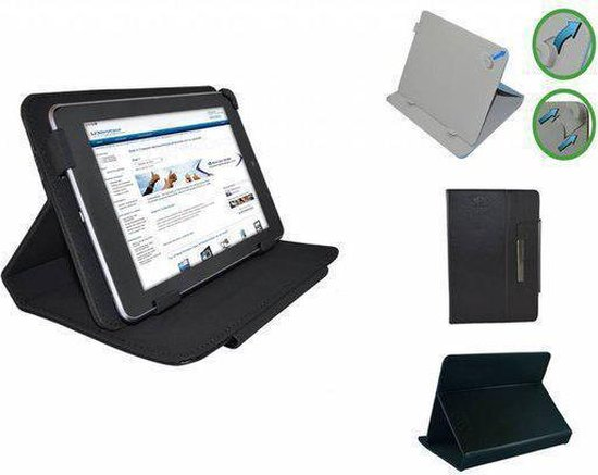 Yarvik Tab08 201 Xenta Diamond Class Hoes, Luxe Cover, Comfortabele Case, Zwart, merk i12Cover