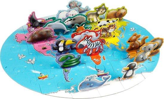 Puzzel Wereld Dieren 3D Vloer