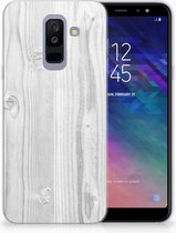 Samsung Galaxy A6 Plus (2018) TPU Siliconen Hoesje Design White Wood