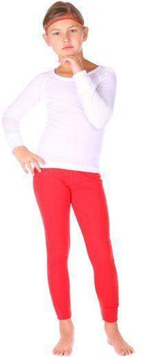 Thermo4sports - thermokleding - thermoset wit - rood maat 128