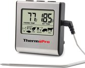 Thermo Pro Professionele Digitale Vleesthermometer - Met Timer & Alarm - Perfect Vlees uit de Oven & BBQ!