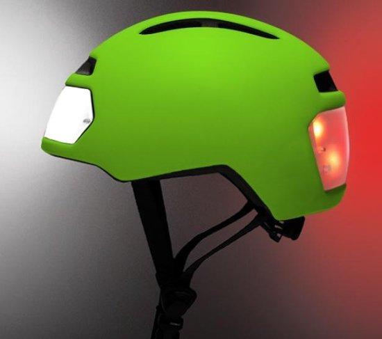 Torch T2 groen - Fietshelm met ingebouwd voor- en achterlicht