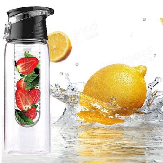 XL Fruit Infuser - Fruitwater Fruit Filter Fles - BPA Vrij- Fruitfilter Sport Fles