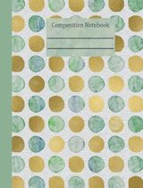 Sea Glass Dots Composition Notebook - 4x4 Graph Paper
