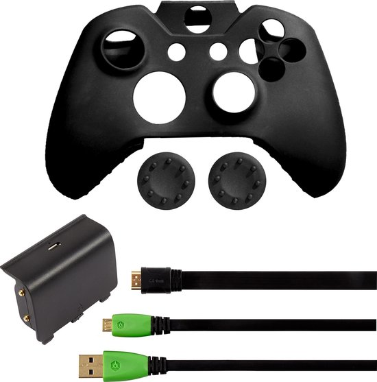 Gioteck Starter Pack - Controller Cover - HDM Kabel - Oplaadbare batterij - Thumbstick Grips (Xbox One)