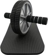 Easy in Shape buikspiertrainer met kniemat - Trainingswiel - Buikspierapparaat