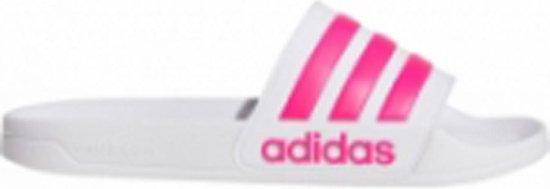 adidas Adilette Shower Slippers Volwassenen - Wit;Fuchsia - Maat 44.5