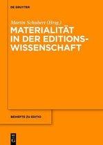 Materialitat in der Editionswissenschaft
