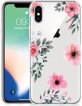 Apple iPhone X Hoesje Flowers